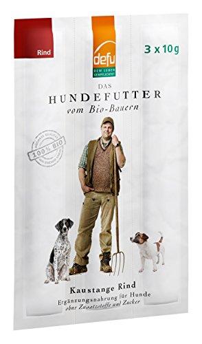 defu Bio Hunde Kaustangen Rind 30 g (als 3 x 10 g Sticks), 10er Pack (10 x 30 g)