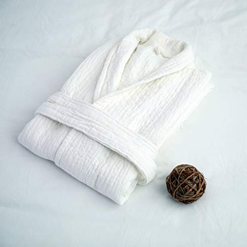 Ycxydr Schlafanzug Hotel Bademantel Bademantel Baumwollgaze Handtuch Baumwolle Nachthemd Hotel Schönheitssalon for Männer und Frauen Bademantel