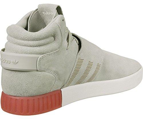 Adidas Sneaker TUBULAR INVADER STRAP BB5035 Beige Weiß, Grau Rot, 47