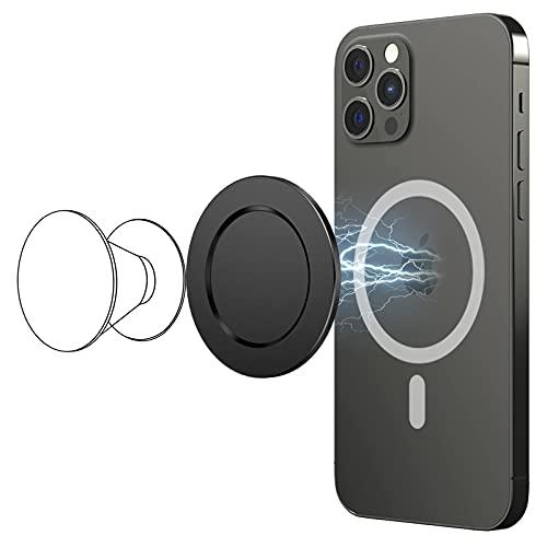 【2021業界最新デザイン】enGMOLPHY Mag-Safe対応ベースプレート, iPhone 12/12 Pro/12 Pro Max/12Miniに対応マグネットプレート, 【スマホグリップとワイヤレス充電の併用互換でき, 強力磁力 安定感抜群 P-Grip/スマホリングホルダーのユーザー必須のスマホアクセサリー (ブラック)
