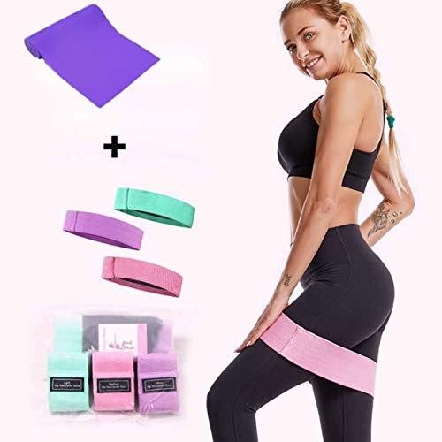 Resistance loop exercise bands set- Workout Band for Legs stretch-leg and Butt Exercise Bands-Non Slip Elastic Booty Bands, Women Sports Fitness, Home Gym training, Yoga Band for Squat Hip Train