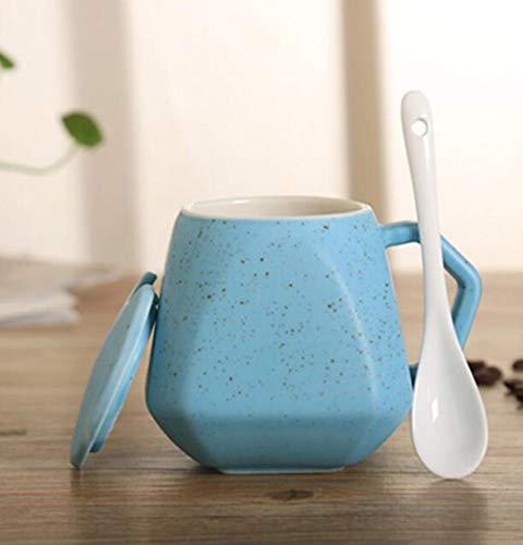 qnmbdgm mok koffie mok creatieve allergie-mok met diamantmerken keramiek geschenk mok voor thee middag