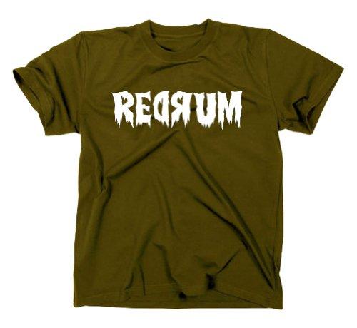 REDRUM The Shining T-Shirt Fanshirt Kultfilm, oliv, S