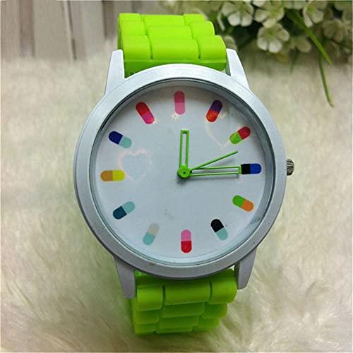 Mymgg Relojes creativos Correas de Silicona Relojes de Color Caramelo Estudiante Accesorios para niños Regalos,14