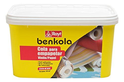 Rayt 1760-23 Benkola Cola para empapelar. Lista al Uso Pintado o Vinilo con Dorso de Papel o Tejido. Excelente adherencia y fácil de Usar, Blanco, 5kg