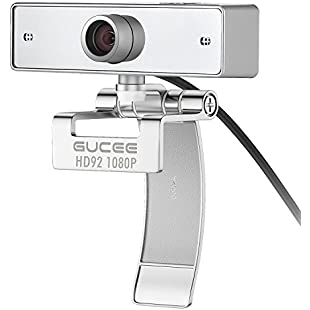 Webcam 1080P, GUCEE HD92 Full HD Web Camera with Microphone, Skype Webcams Crystal Clear Video Wide Angle, USB Web Cam for PC Laptop Desktop, Compatible with Windows 10 / 8 / 7 and Mac OS X