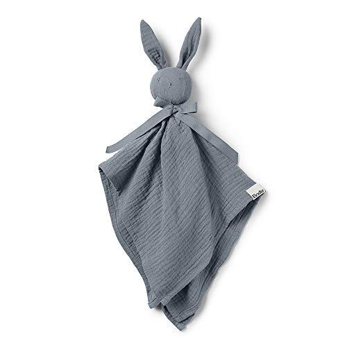 Elodie Details Kuscheltier Hase für Babys Blinkie Schnuffeltuch aus 100% Baumwolle - Blue, Blau