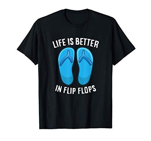 La vida es mejor en chanclas verano de playa Camiseta