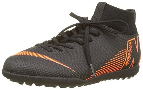Nike Unisex-Kinder Mercurial Superfly X 6 Club TF JR AH7345 Fitnessschuhe, Mehrfarbig (Black/Total Orange-W 081), 34 EU