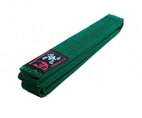Budodrake Cinturón Verde 260 cm para Karate Judo Taekwondo Hapkido Aikido Artes Marciales