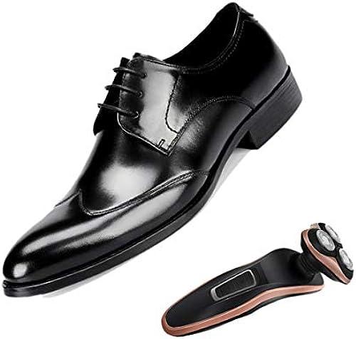 LZMEG Britische Schuhe Für Herren Größe Größe Spitz Spitz Spitz Derby Weißrot SchwarzDerby Atmungsaktiv Abendschuhe  willkommen zu bestellen