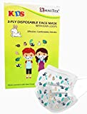 Omnitex Premium 3ply Kids Face Mask, Disposable with Ear Loops, Child Safe Non Toxic Print, 98% Filtration & Splash Resistant, Non irritating & Latex Free Covering, British Brand, 10 Count