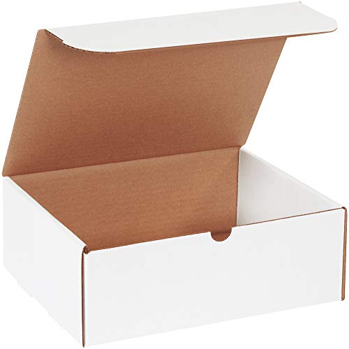 BOX USA BM1184 11 1/8'L x 8 3/4'W x 4'H, White (Pack of 50)