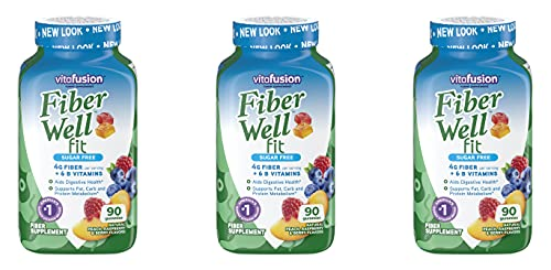 Fiber Well Fit Gummies, 3 Pack (90 Count)