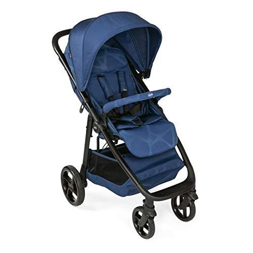 Chicco 06079628090000 Multiride - Carrito deportivo para cualquier terreno, con mecanismo de cierre con una mano, aprobado desde el nacimiento hasta 22 kg de peso corporal, 1 unidad, color azul