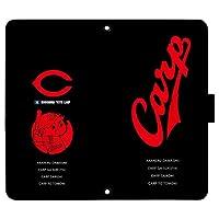 Xperia XZ SO-01J ケース [デザイン:23.坊RED&Black/マグネットハンドあり] カープ坊や 広島東洋 カープ 手帳型 スマホケース カバー エクスペリア so01j