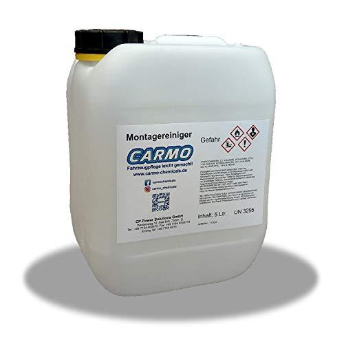 CARMO Montagereiniger | Bremsenreiniger | Acetonfrei | Nicht korrosiv | Hohe Reinigungskraft | Entfernt Öle, Fette, Bremsstaub und eingebrannte Ablagerungen | 5 Liter Kanister