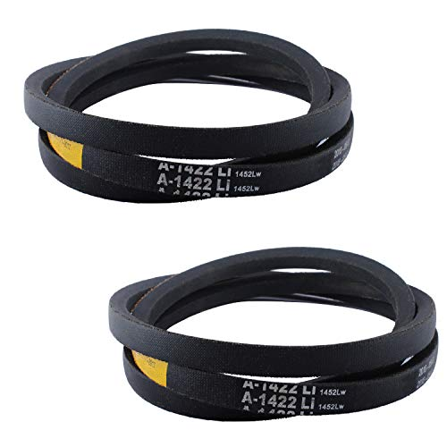 Drive Belt Compatible with MTD 954-04043A 754-04043 Compatible with Cub Cadet RZT50 Deck Belt (Pack of 2)