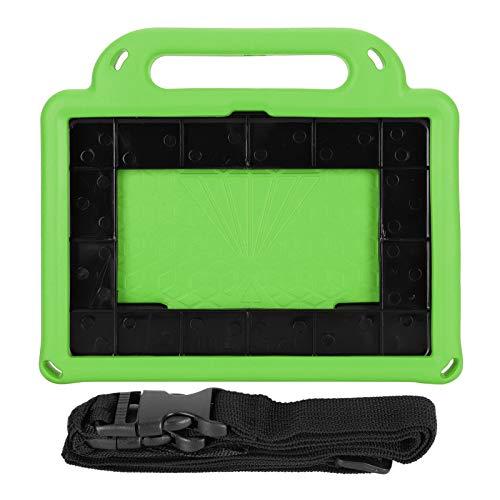 Exliy Funda Protectora Impermeable para Tableta La Cubierta del asa de la Tableta a Prueba de Golpes admite la función de reconocimiento de Huellas Dactilares con(Green)