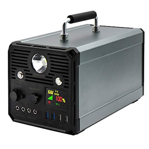 Générateur Solaire 1000W Batterie au Lithium Alimentation de Secours, onduleur DC/AC Chargé à partir du Panneau Solaire/Prise pour générateur Solaire Sauvegarde d'urgence de Camping en Plein AI