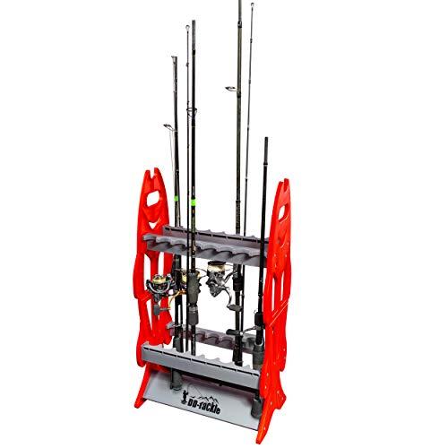 DD-Tackle - Soporte para guardar cañas de pescar (capacidad para 16 cañas)