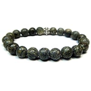 Genuine Serpentine Gemstone Beaded Bracelet