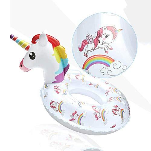 Natación Anillo Piscina de verano playa flotadores inflables balsa del flotador de adultos cuentos for niños juguetes inflables del flamenco y el Unicornio animado impresión de natación 22 cm, color b