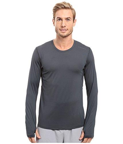 Brooks Herren Laufshirt Langarm Sport-Shirt Long Sleeve Blau oder Grau (Grau, L)