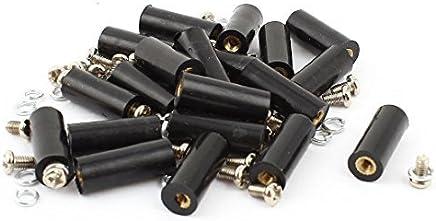 eDealMax a15011600ux0419 20 piezas M3 latón inserto de rosca 8x20 mm Con aislamiento de separadores Para
