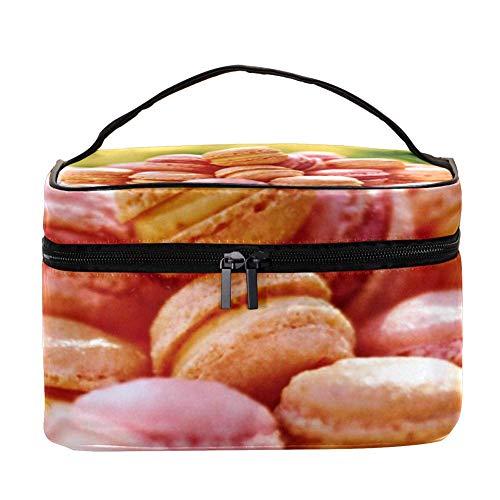 EZIOLY - Macarons d'amande française - Accessoires de voyage portables avec poche en filet - Sacs de maquillage - Organiseur multifonction