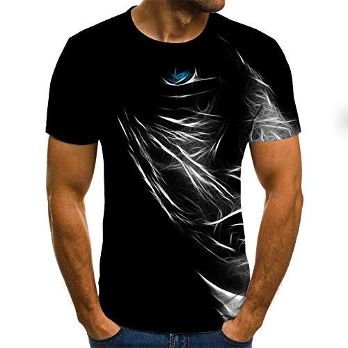 T-Shirt 3D Tee Shirt T-Shirt d'été pour Hommes T-Shirts imprimés en 3D T-Shirt de Compression à Manches Courtes T-Shirt de fête pour Hommes/Femmes M Txu-1213