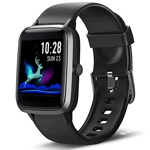 Lintelek,Smartwatch Orologio Fitness Tracker Uomo Donna Smart Watch Cardiofrequenzimetro da Polso Contapassi Smartband Sportivo Activity Tracker per Android iOS