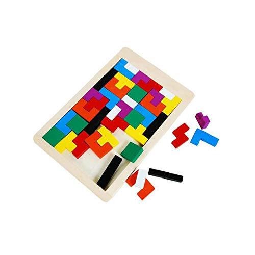 Madera Tetris Puzzle Enigmas Juguete De Madera del Rompecabezas De La Caja De Madera Brain Games Regalo Educativo De Los Juguetes del Rompecabezas Chino Rompecabezas para Niños Educativos Juega Juega