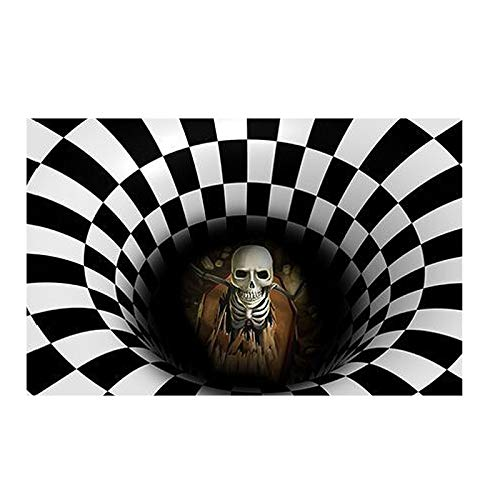 N / A Halloween Doormat, Funny Horror Doormat,Home Flannel Non-Slip Doormat for Halloween Decoration cm (60×90cm, M)
