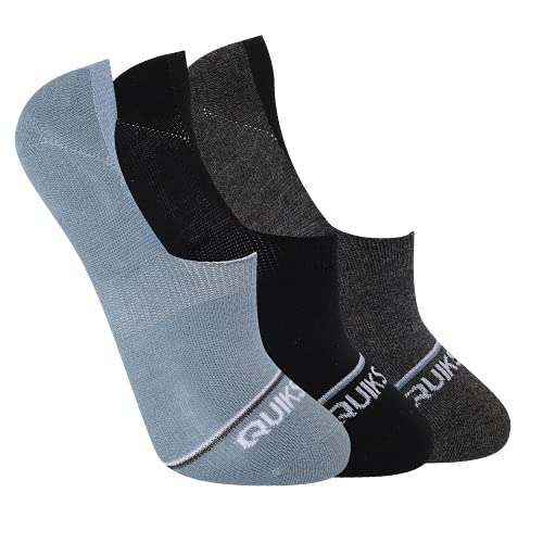 Quiksilver Herren No Show Liner Socks Sneaker-Füßlinge, Blau (3er-Pack), Einheitsgröße