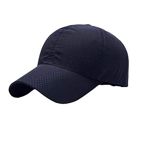 [FUPUONE] 帽子 ジョギング用キャップ メッシュ 吸湿速乾 ランニングキャップ 6カラー (ブラック)