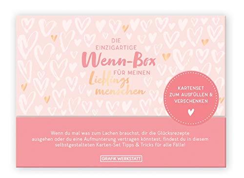 Grafik Werkstatt Geschenk-Box für den Lieblingsmensch| Karten-Set zum ausfüllen | 20 Karten in hochwertiger Box