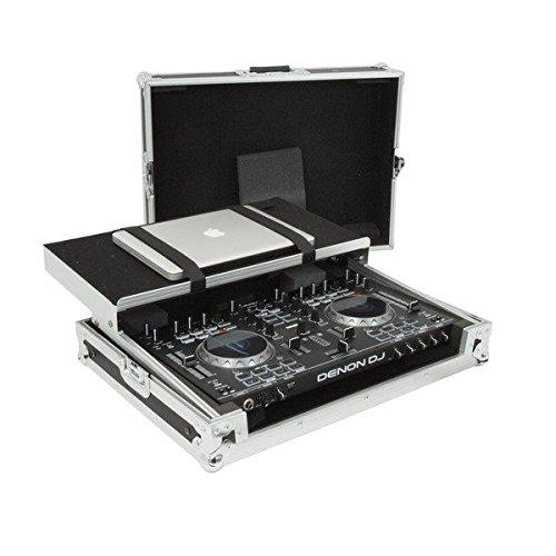 Gorilla Denon MC4000 DJ Controller Carry Transport Flight Case Workstation Black with Laptop Shelf