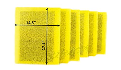 Find Discount RAYAIR SUPPLY 16x20 MicroPower Guard Air Cleaner Replacement Filter Pads (6 Pack) Yell...