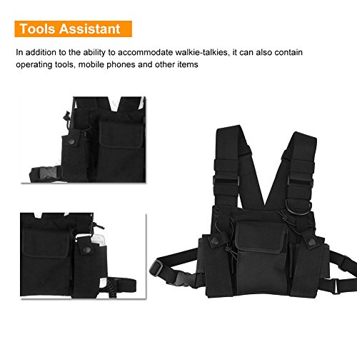 Bewinner Bolsa de Walkie Talkie Chest Pocket Harness Bags Pack ...