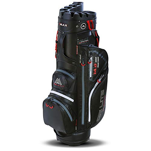 Big Max Dri Lite Silencio Cartbag - Wasserabweisende Golftasche schwarz