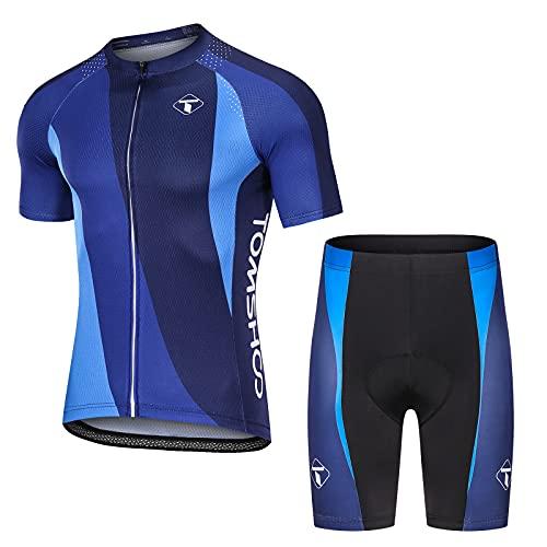 TOMSHOO Abbigliamento Ciclismo, Completo Ciclismo Uomo, Set di Maglie da Ciclismo Primaverili ed Estive