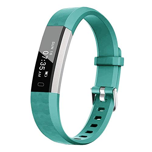 BIGGERFIVE Fitness Tracker Watch for Kids Girls Boys Teens, Activity Tracker, Pedometer, Calorie Sleep Monitor, Alarm Clock, IP67 Waterproof Step Counter Watch (Green)