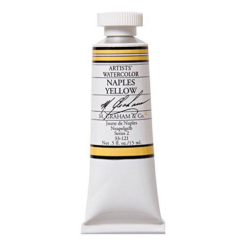 M. Graham 1/2-Ounce Tube Watercolor Paint, Naples Yellow