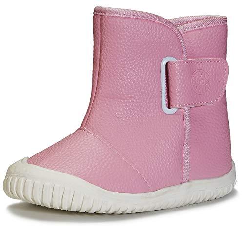 Gaatpot Bébé Bottines Chaussures d'hiver Garçon Fille Bottes de Neige Premiers Pas Chaud Enfant Bottines Chaussures NK-Rose 22/22.5EU=22CN