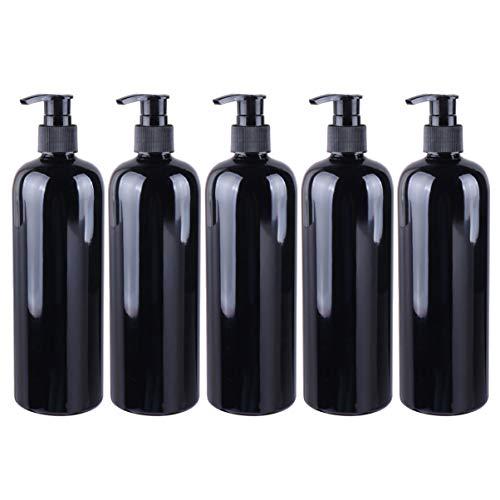FRCOLOR Botellas con Bomba Vacías para Champú Y Acondicionador Botellas con Bomba de Plástico de 500Ml Botellas de Ducha Dispensador de Jabón Líquido Recargable para Baño Desinfectante de