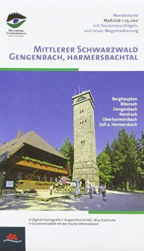 Wanderkarte Mittlerer Schwarzwald: Ferienregion Brandenkopf - Gengenbach, Berghaupten, Biberach, Gengenbach, Nordrach, Oberharmersbach, Ohlsbach, Zell am Harmersbach. 1:25000