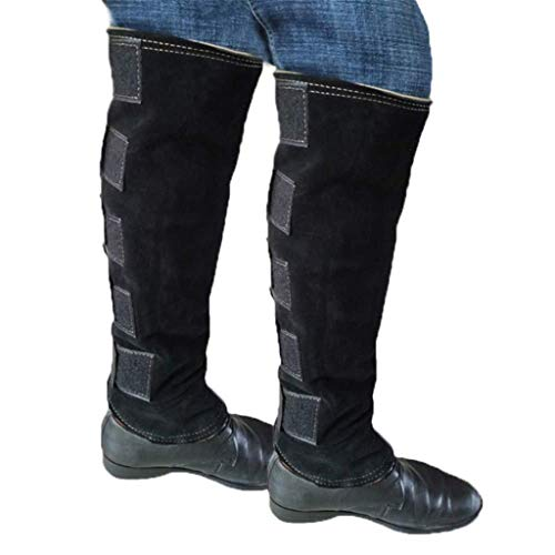 Snake Gaiters Leather Leggings Boot Covers Snake Bite Leggings Lower Leg Armor Anti-Bite Anti-Needle Protection Leg Guards Outdoor Hiking Walking Leggings Protection Gaiter Gear 828