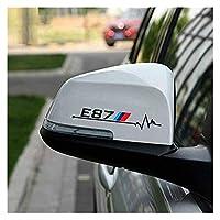 ステッカー2ピース車のリアビューミラーステッカー&デカールアクセサリーB-M-W E34 E34 E39 E46 E60 E61 E81 E90 E83 F10 F20 F21 F35 車のステッカー (Size : E39 White)