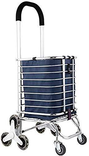 JIAN trolley Grocery Shopping Carts 8 ruote, pieghevole lavanderia strumento di viaggio spesa, della famiglia portatile Carrello for valigie Camion Autotreno, rotolamento Rotary ruota in alluminio
